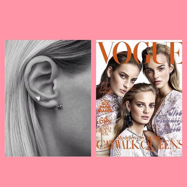 We're in a Vogue-state-of-mind❤️ #HowLuckyAreWe #voguenl #Robin #earstud #lulubadulla #contemporary #danishdesign #innovative #design #fashion  @marijegoekoop_voguenl  @itspaulinebee  @goldmind_dk  @nlvogue  @guruagency