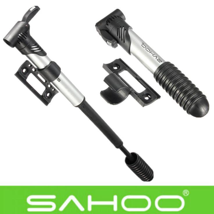 Sahooミニポータブルコンパクト自転車バイクサイクリングポンプハンド空気タイヤインフレータスリップ防止機能付きバイク修理ツール