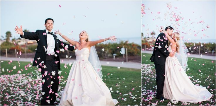 Glam pink and gold The Cliffs Resort Wedding in Pismo Beach by San Luis Obispo…
