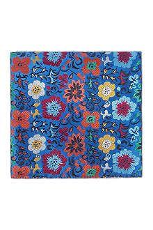 DUCHAMP Exotic Blooms pocket square