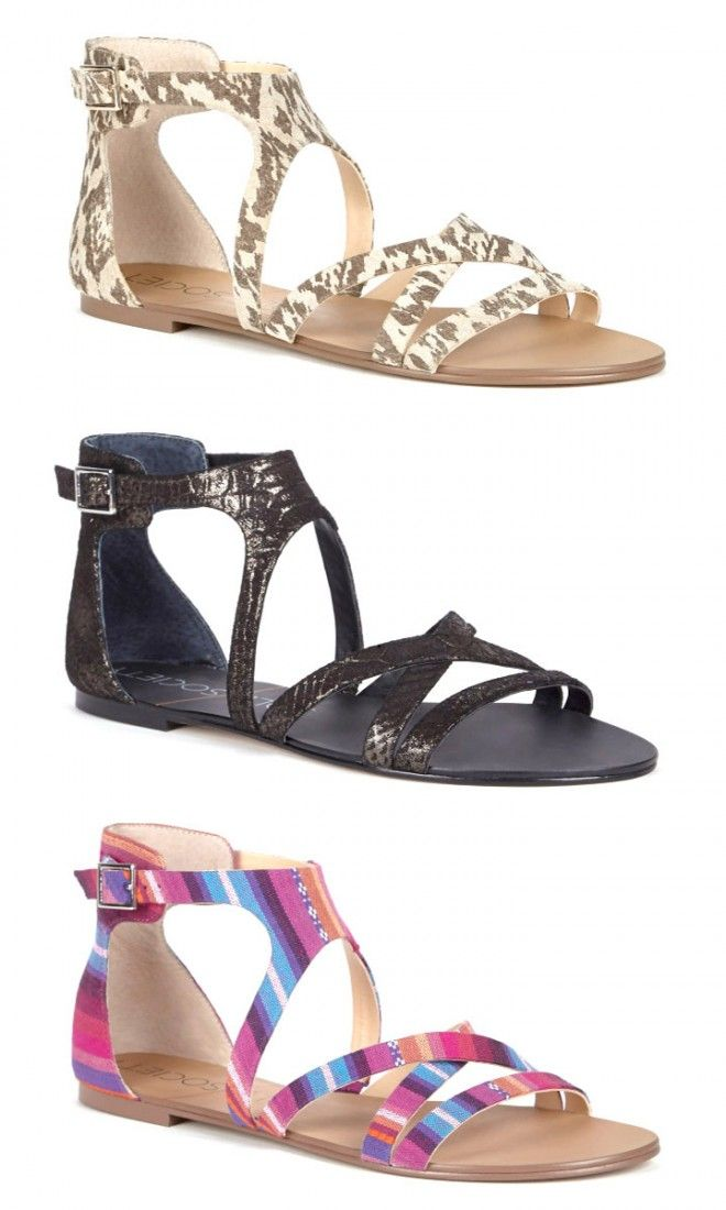 Strappy gladiator sandal with an open toe, adjustable ankle strap closure and an artisan sock insole (for an all-day dry fit).
