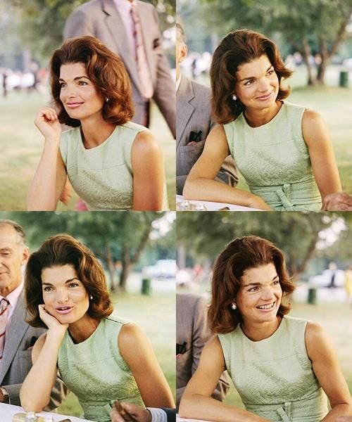 Minty-cool Jackie Kennedy montage