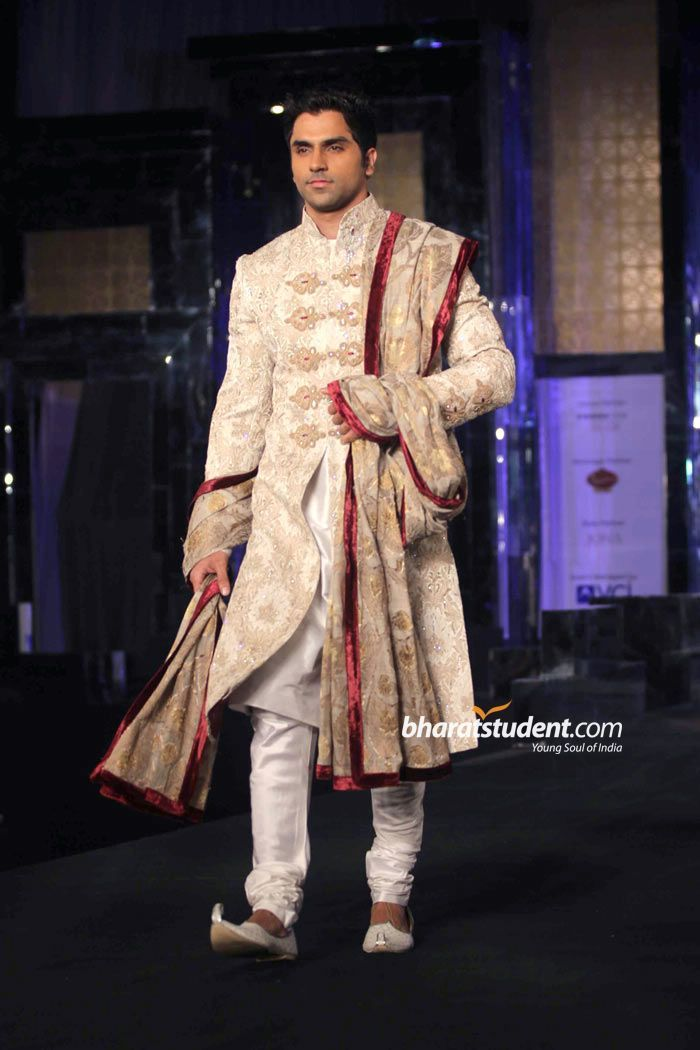Anjalee and Arjun Kapoor groom's wear, south asian groomswear, sherwani for groom