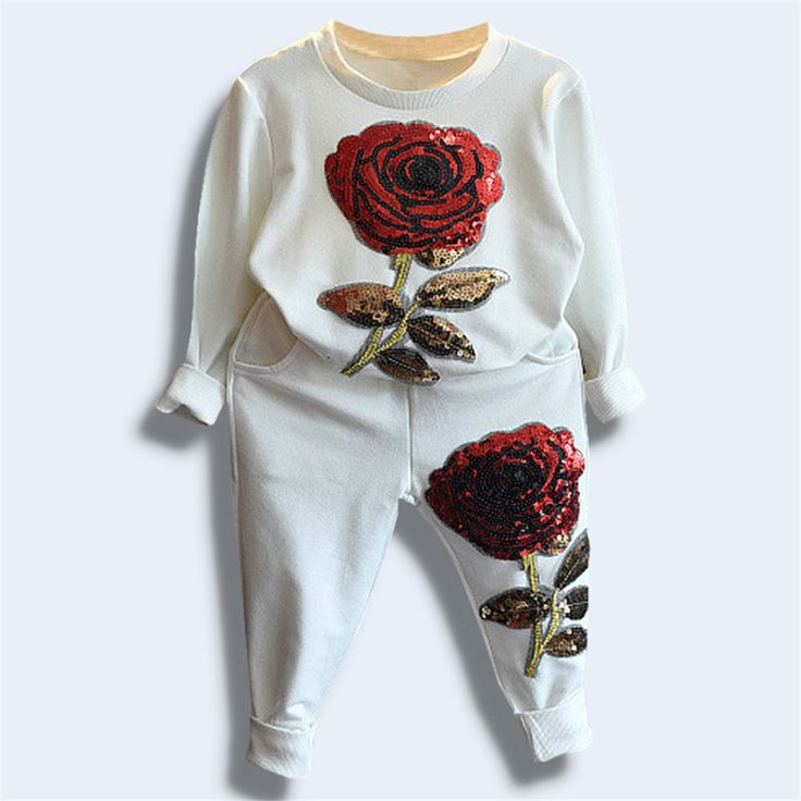 $21.10 (Buy here: https://alitems.com/g/1e8d114494ebda23ff8b16525dc3e8/?i=5&ulp=https%3A%2F%2Fwww.aliexpress.com%2Fitem%2FSpring-Autume-Girls-Clothes-Rose-Girls-Clothing-Set-Enfant-Pyjamas-Kids-Long-Sleeve-T-Shirt-Red%2F32721727639.html ) Spring Autume Girls Clothes Rose Girls Clothing Set Enfant Pyjamas Kids Long Sleeve T Shirt + Red Rose Pants Survetement Fille for just $21.10