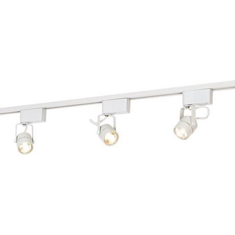 Best 183 track and recessed lighting images on pinterest track pro track white finish 150 watt low voltage track kit style 65227 mozeypictures Gallery