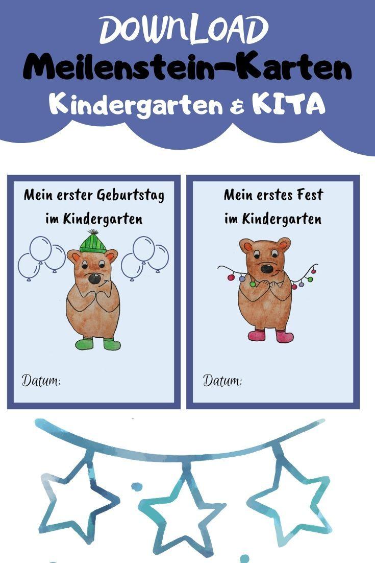 Meilenstein Karten Fur Kindergarten Kita In 2020 Karten