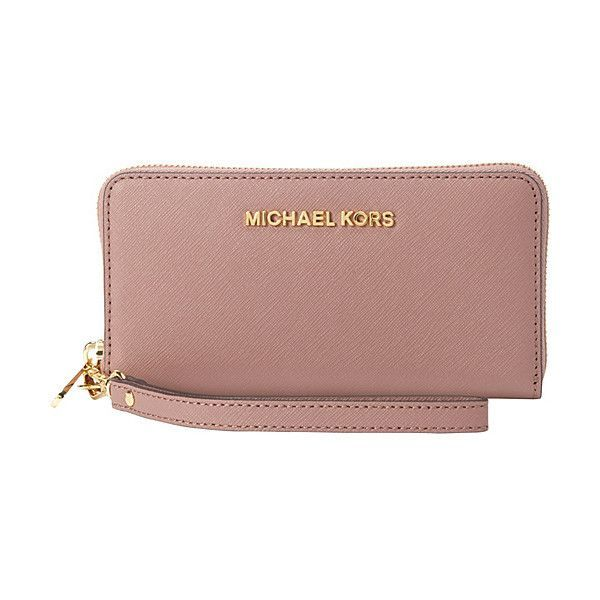 0e347064c279 MICHAEL Michael Kors Jet Set Travel Large Multifunction Phone Case... (135  AUD) ❤ liked on Polyvore featuring bags, wallets, designer ladies wallets,  ...