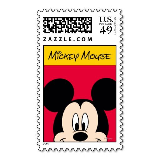 Mickey Postage Stamp. This great stamp design is available for customization or ready to buy as is. Of course, it can be sent through standard U.S. Mail. Just click the image to make your own!
