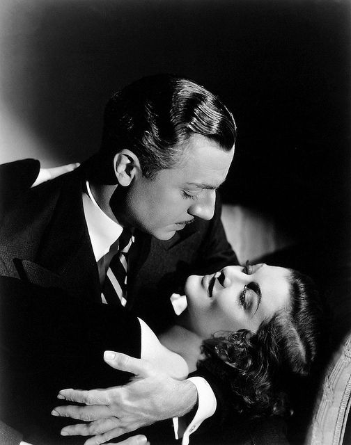 "William Powell and Myrna Loy  publicity photo for the 1934 movie ""Evelyn Prentice"""