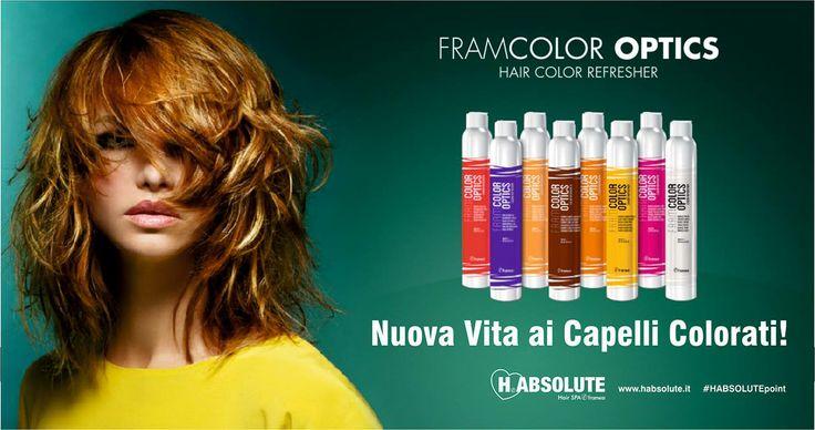 #LOVEisINtheHAIR  FRAMCOLOR OPTICS BY #Framesi - Nuova Vita ai #Capelli Colorati!  clicca http://www.habsolute.it/ trova l' #HABSOLUTEpoint a te più vicino e Regala_ti FRAMCOLOR OPTICS BY Framesi  HABSOLUTE HAIR SPA