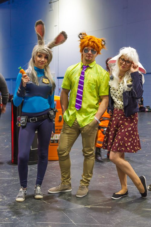 "angryraccoon1: "" Cosplay: Judy Hopps, Nick Wilde & Dawn Bellwether 