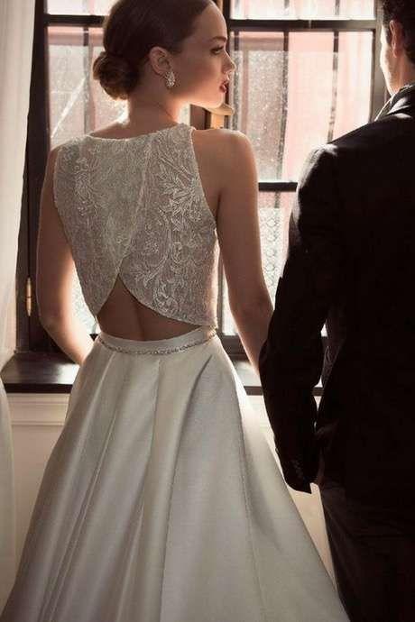 tendencias de boda vestidos de novia de dos piezas fotos un