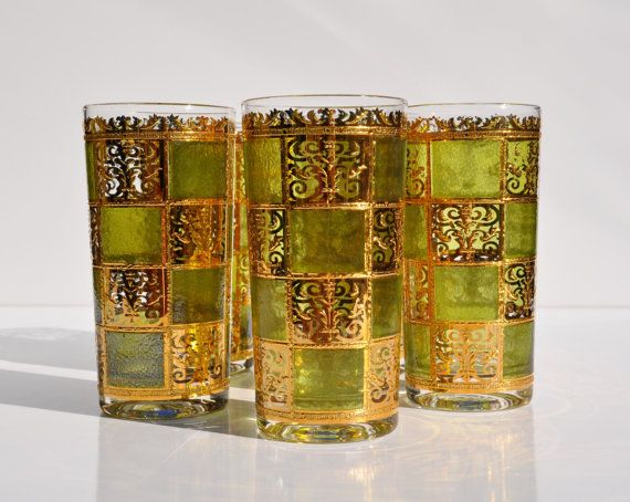 Culver Barware Prado Tumblers 5 Highball / Collins By FabsAndFaves