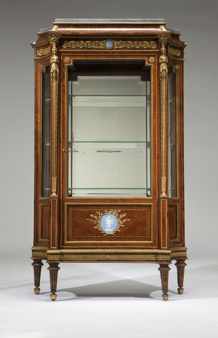 Auction company 751 walnut victorian marble top parlor table ca 1870 - A French Ormolu Mounted Rosewood Vitrine Francois Linke Last Quarter 19th Century