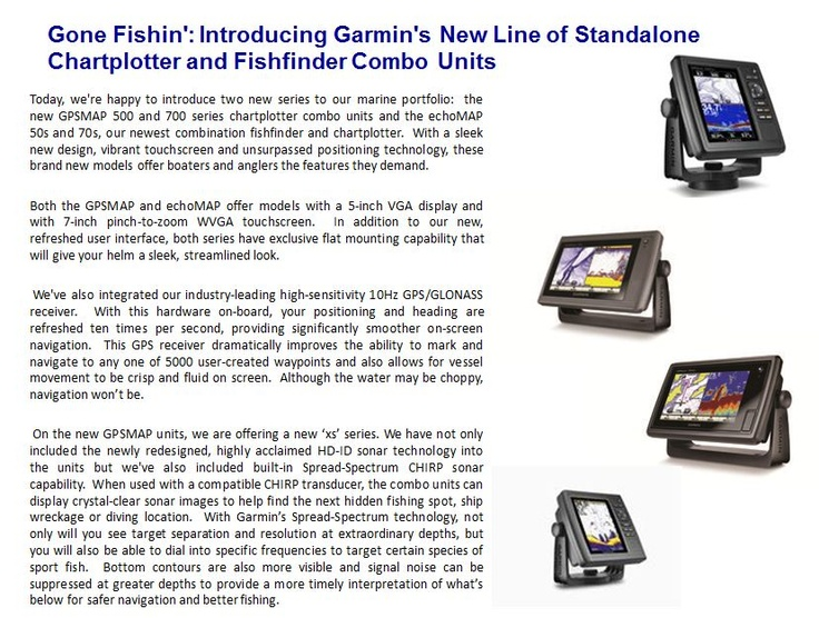 Gone Fishin': Introducing Garmin's New Line of Standalone Chartplotter and Fishfinder Combo Units
