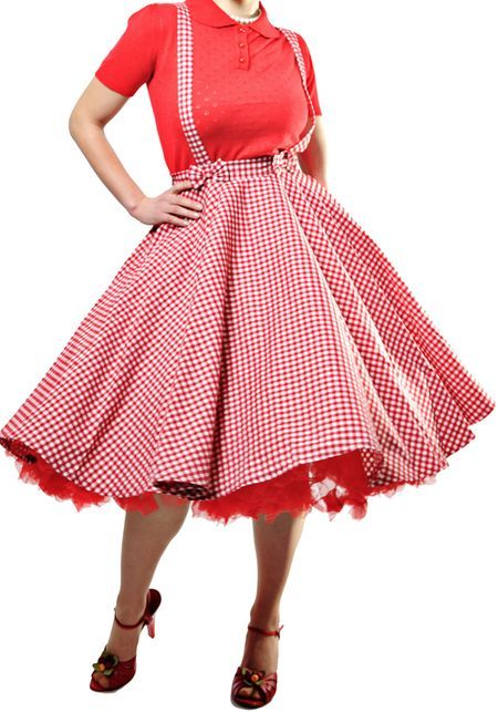 Liesel Gingham Circle Skirt from Collectif
