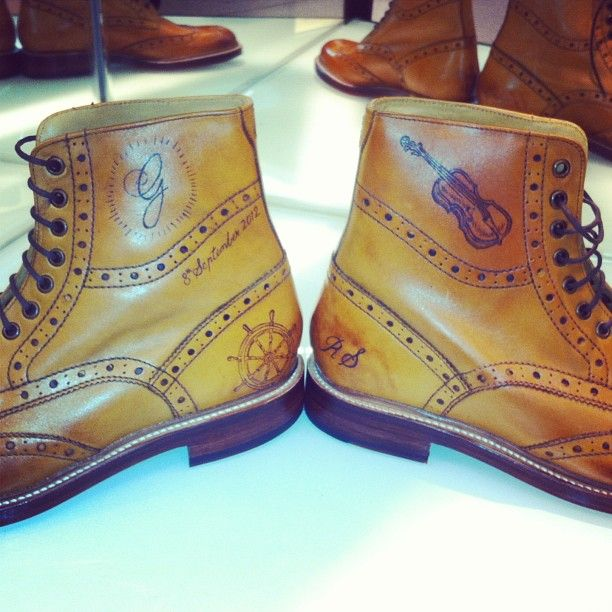 Sweeney Tattoos on our Wren Tan brogue boots