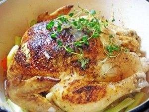 favorite kind of recipe – super simple and extraordinarily delicious. The basic idea is to brown a whole chicken in a Dutch oven and then fi...