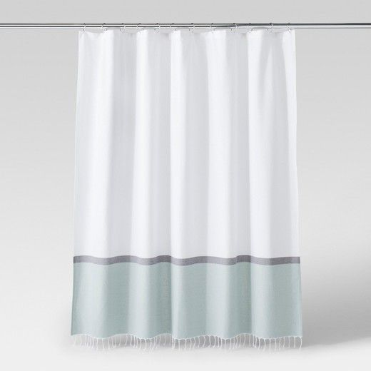 A light and airy feel is what will be flowing through your space with this Woven Green and White Shower Curtain from Project 62™. The simple colorblocks bring a modern mode to this piece while the fringed bottom keeps it fun and unique. <br><br>1962 was a big year. Modernist design hit its peak and moved into homes across the country. And in Minnesota, Target was born — with the revolutionary idea to celebrate design for all. Project 62 embodies this legacy with...