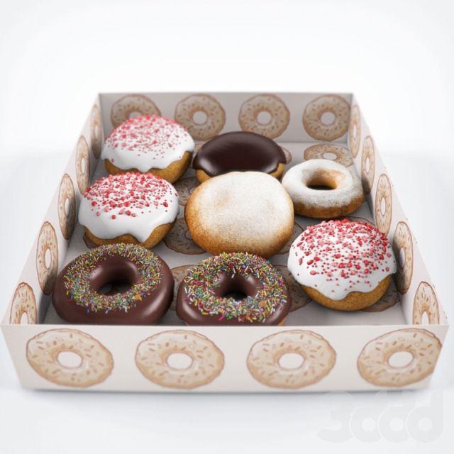 Пончики в коробке