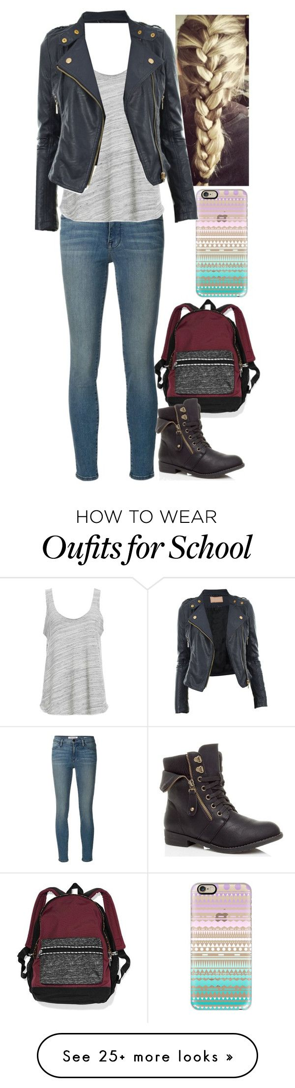 """Untitled #386"" by stepupdancer on Polyvore featuring Victoria's Secret, Casetify, Frame Denim and Project Social T"