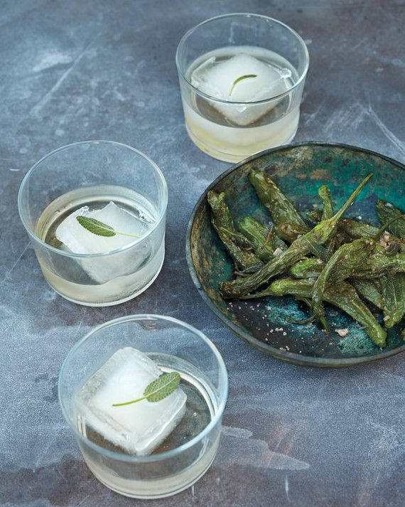 freeze sage and agave syrup to serve with mezcal