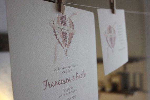 Cartolina 10 pz Partecipazione matrimonio di dietrolaluna su Etsy