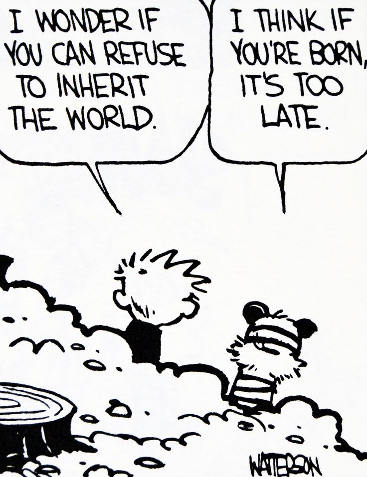 Calvin and Hobbes, DE's CLASSIC PICK of the day (9-22-14) - inherit the world