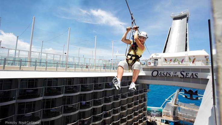 TOP 5 atracciones a bordo de un crucero zip line