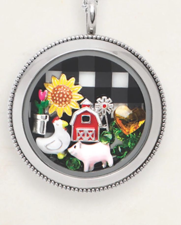 Origami Owl Spring Collection 2017! Farm animal charms! Such a cute piggy charm! Click to shop Origami Owl!