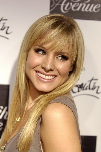Kristen Bell's piecey bangs <-- Love these!!