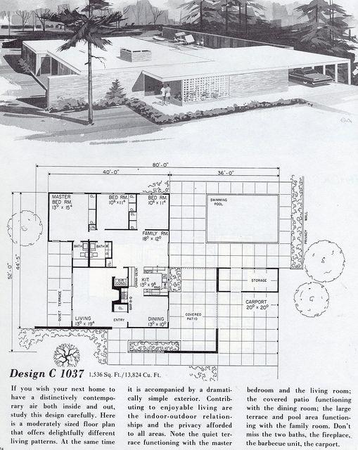 Les 70 meilleures images à propos de Mid Century sur Pinterest - Dessiner Un Plan De Maison