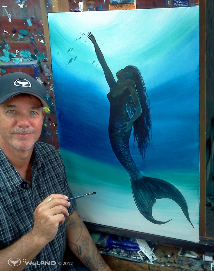 Love the feeling of this piece and love Wyland.  His eyes are gorgeous.    Artist: #Wyland