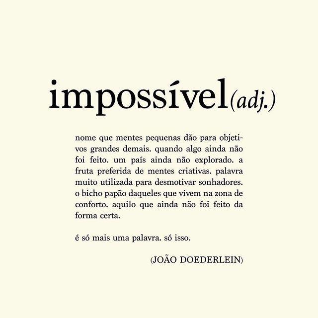 É só mais uma palavra. Só isso. ☺