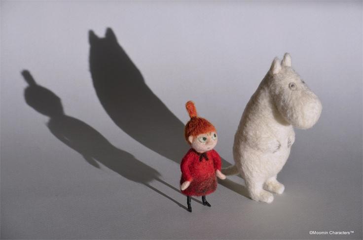 Wool felt Moomin YOSHiNOBU I love the way the shadows work with this shot!