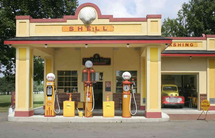 Shell station on the Gilmore Car Museum Campus in Hickory Corners, Michigan.