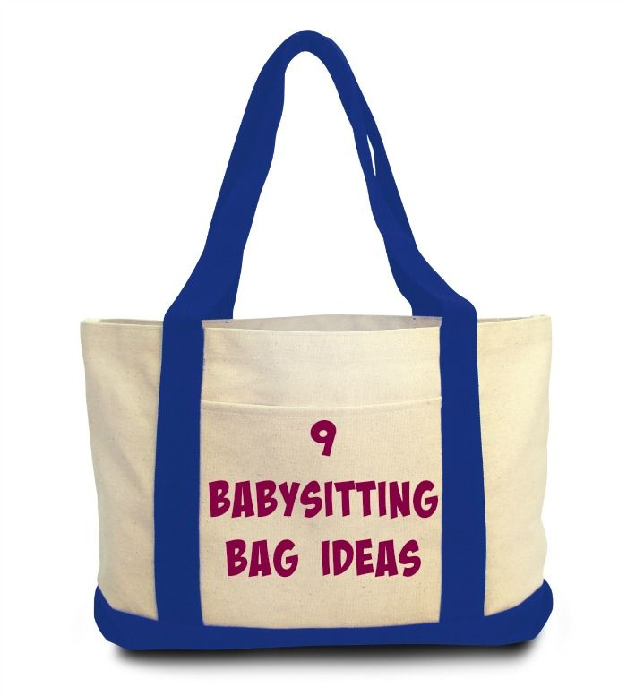 babysitting BAG IDEAS that are perfect for those first time sitters!!