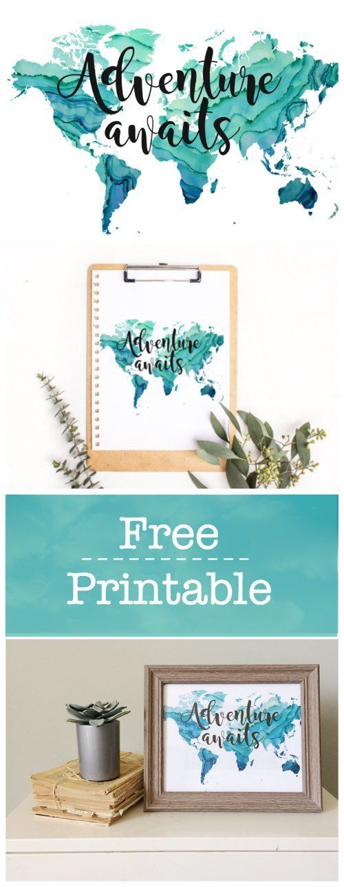 Adventure Awaits Free Printable For Boys Room - Brooklyn Berry Designs