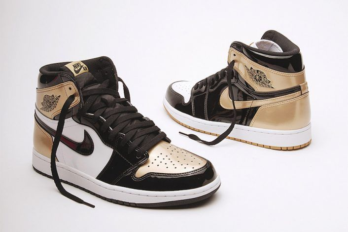 287f4ed391532 Air Jordan 1 Top 3 Black Gold Patent Leather | SHOE OBSESSION in ...