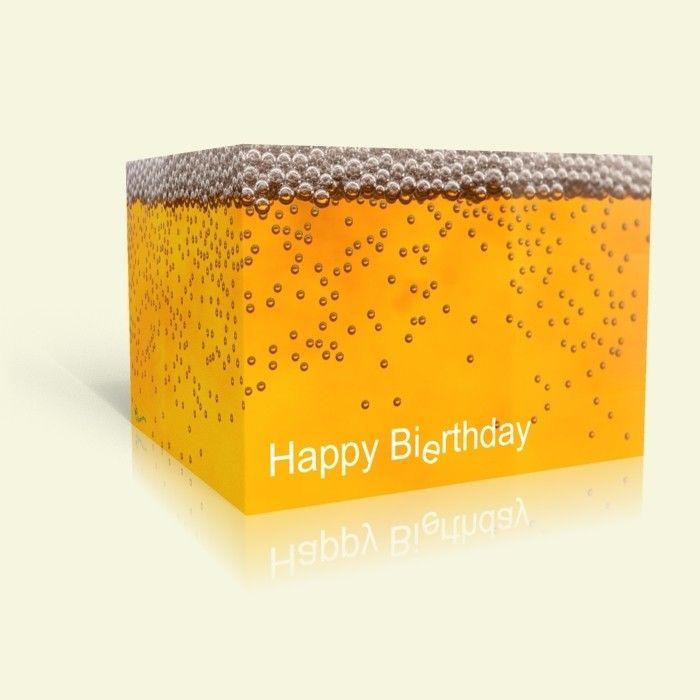 Einladungskarte zum Geburtstag - Happy Bi(e)rthday