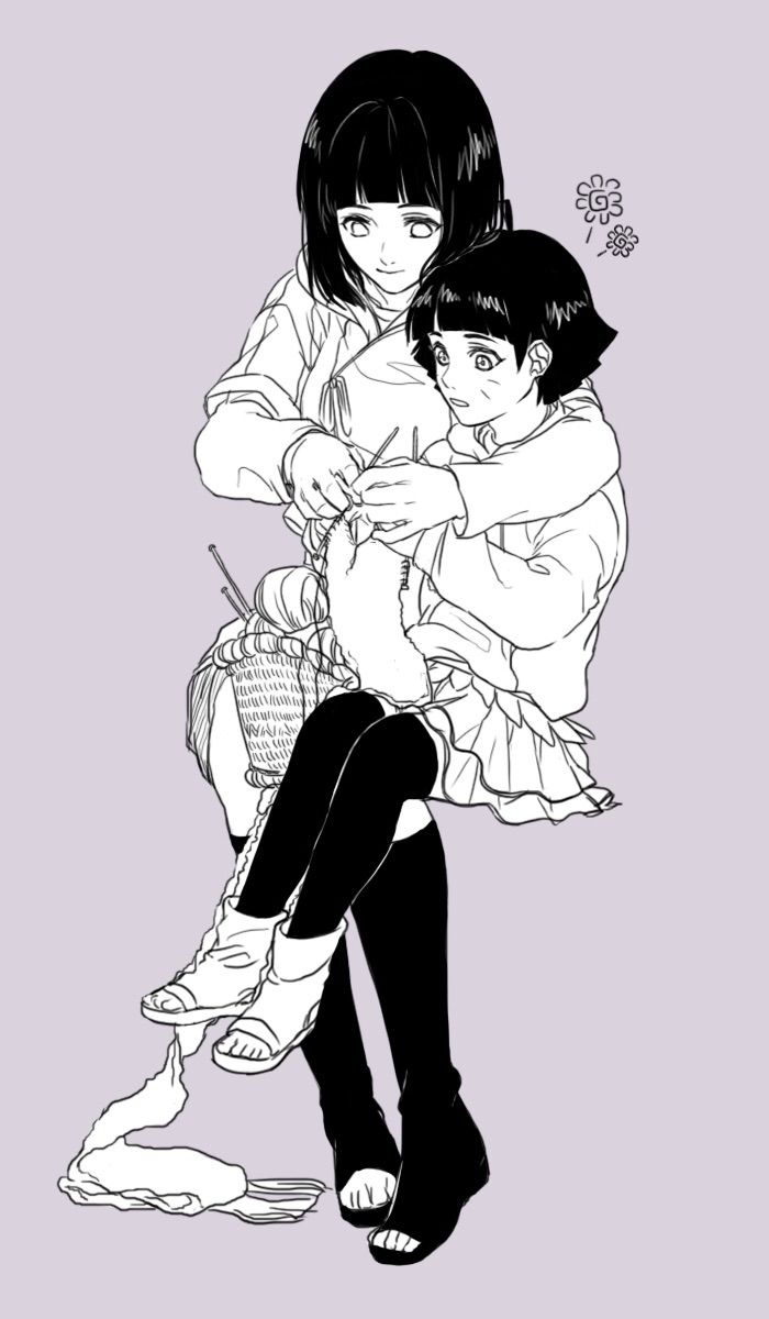 Hinata Hyuga and  himawari Uzumaki