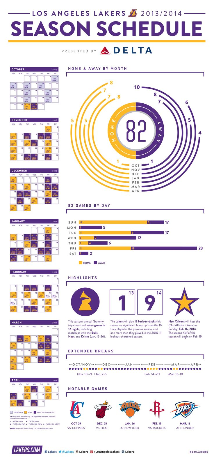 201314 Season Schedule Infographic Schedule design