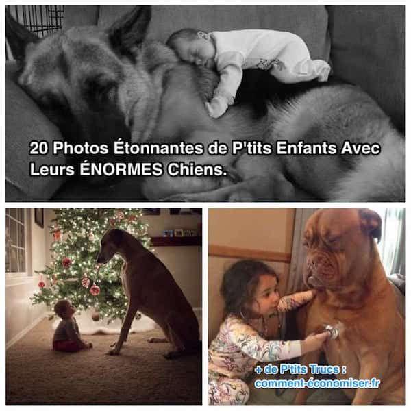 Regardez ces 20 photos adorables de ces p'tits enfants avec leurs gros chiens. Moi, elles m'ont fait craquer !  Découvrez l'astuce ici : http://www.comment-economiser.fr/20-photos-de-petits-enfants-avec-leurs-grands-chiens.html?utm_content=buffera935f&utm_medium=social&utm_source=pinterest.com&utm_campaign=buffer