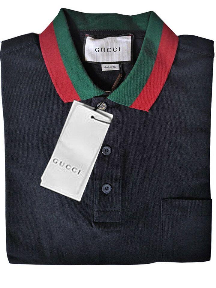 8fb95fbff19 Gucci Men s Navy Polo Shirt Size M Short sleeve Cotton  fashion  clothing   shoes