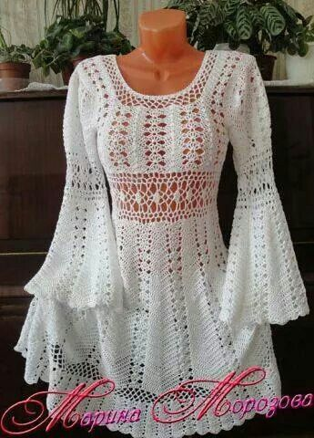 Crochet Swester with Bell sleeves