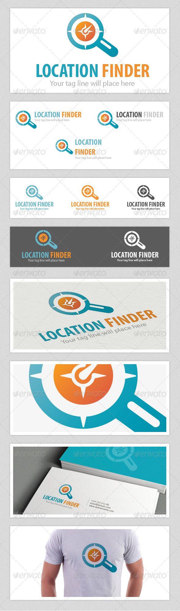 Location Finder  Logo Design Template Vector #logotype Download it here: http://graphicriver.net/item/location-finder-logo/4541458?s_rank=722?ref=nexion
