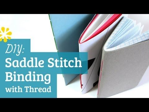 ▶ How to Make a Book : Saddle Stitch with Thread -   YouTube    SIMPLE ANLEITUNG ZUM STICH ..viele anleitungen ovn Sea Lemon