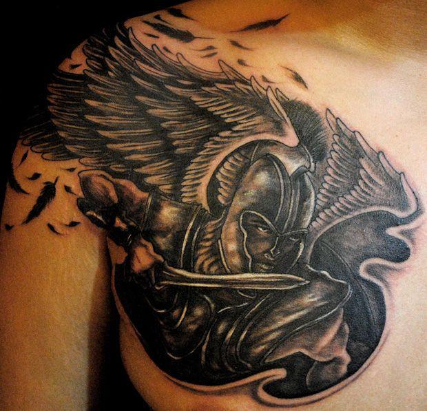 image result for tattoo designs for african american men tattoos pinterest warrior angel. Black Bedroom Furniture Sets. Home Design Ideas