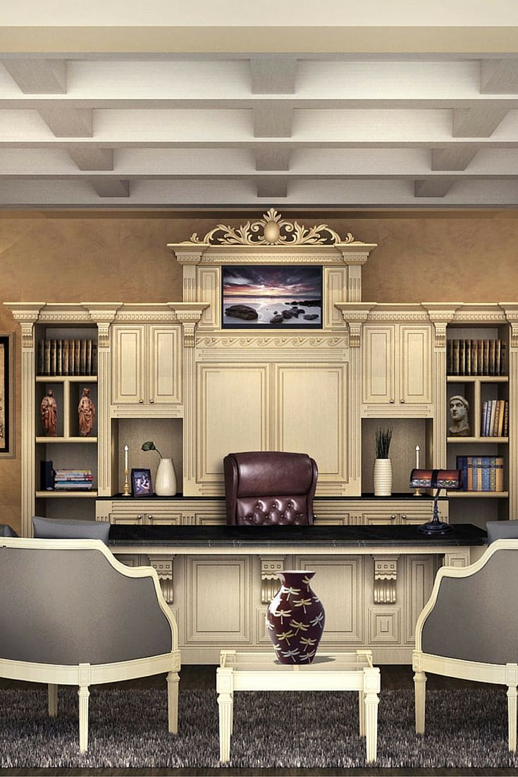 162 best images about home office ideas on pinterest home office design home library design for Custom home office design ideas