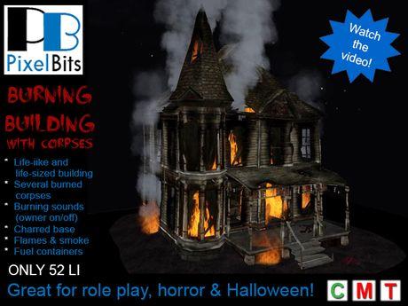PB - Burning House. Eeeek!
